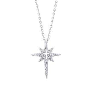 Sterling silver North Star and cross pendant