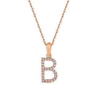 Rose gold initial pendant