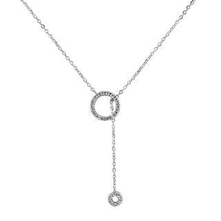 White gold diamond drop necklace