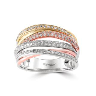 Tricolor diamond ring