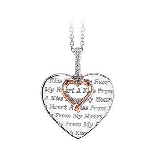 Gold double heart pendant