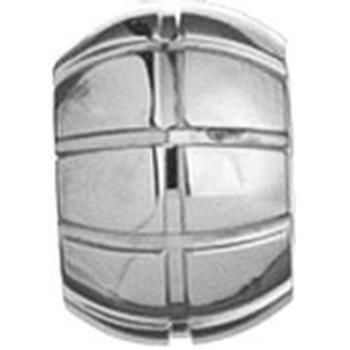 AAGAARD silver stainless steel bead