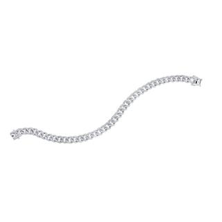 white gold diamond link bracelet