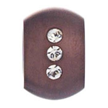 AAGAARD brown stainless steel bead