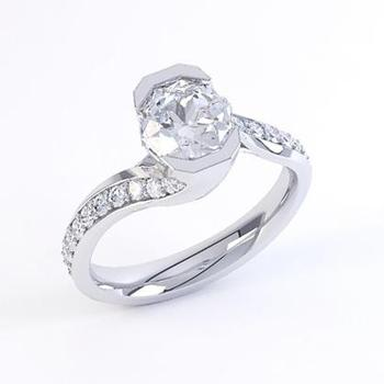 MaeVona Perth semi engagement ring