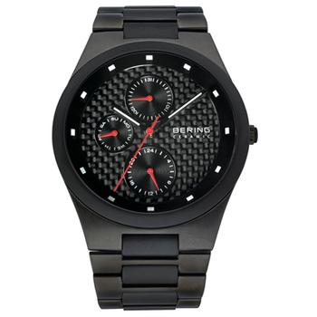 Bering men's black ceramic watch