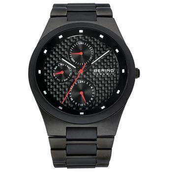 Bering men's black ceramic watch