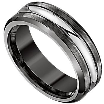 Men's cobalt and chrome wedding band