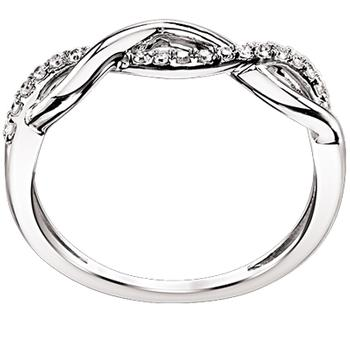 White gold diamond infinity band