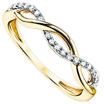 Yellow gold diamond infinity band