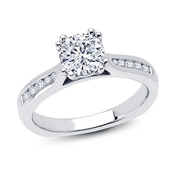 Love Story diamond semi mount engagement ring