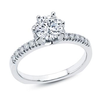 Love Story diamond semi mount engagement ring