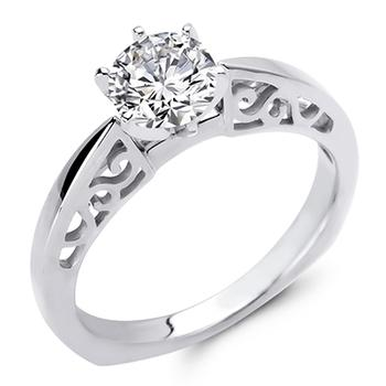 Love Story semi mount engagement ring