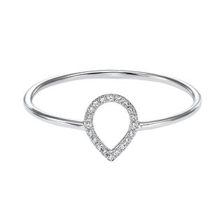 Diamond teardrop ring