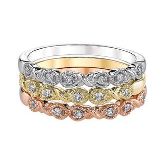 Diamond tricolor three band set