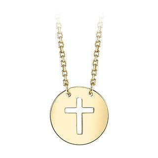 Yellow gold cut-out cross