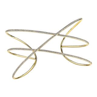 Yellow gold diamond freeform bracelet