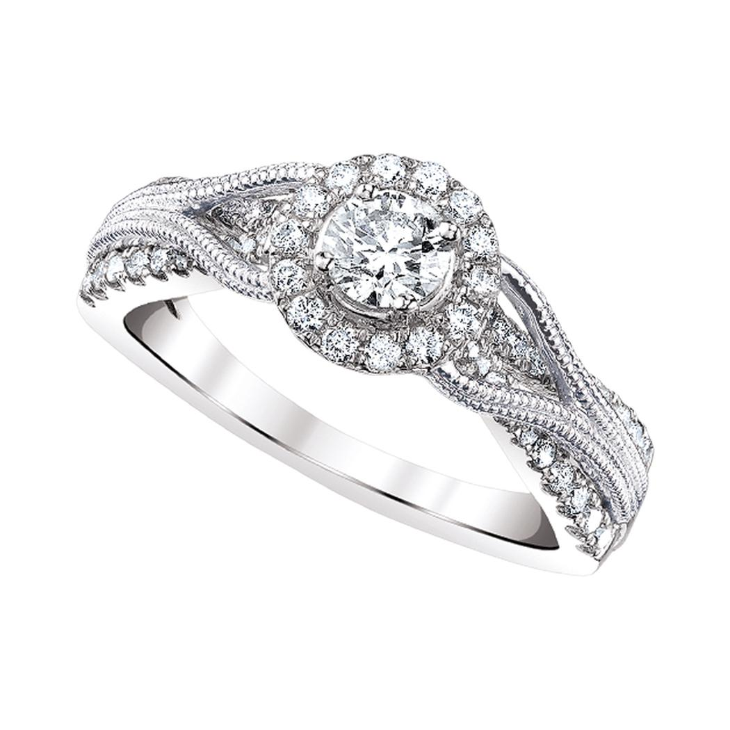 ctw cut viaggio rings ring bel designs forever products colorless moissanite one engagement emerald halo diamond