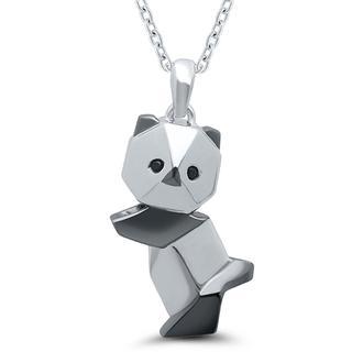 Sterling silver origami panda