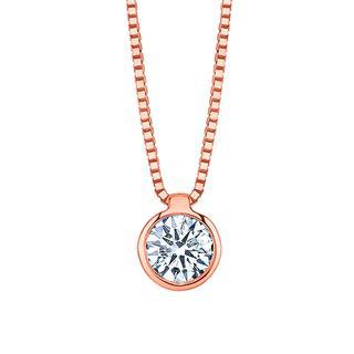 Diamond bezel set pendant