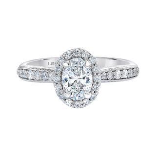 White gold semi mount engagement ring