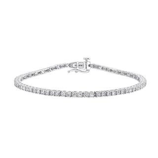 Sterling silver diamond bracelet