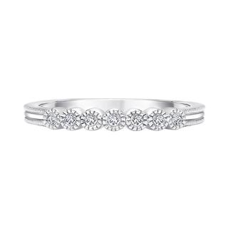 Sterling silver ring with diamond accents