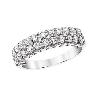 Two row diamond anniversary band