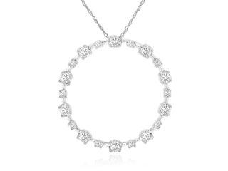 White gold diamond circle pendant