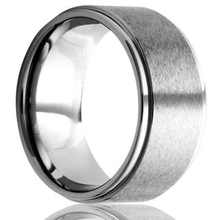 Men's tungsten band with satin finish