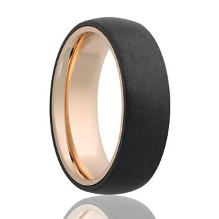 Men's yellow gold band with satin finish