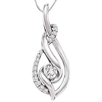 Sirena white gold diamond pendant lustig jewelers sirena white gold diamond pendant aloadofball Choice Image