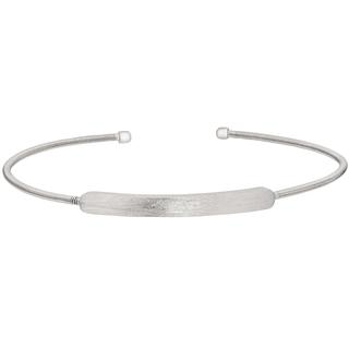 Sterling silver cuff bracelet with plate for personalized engraving