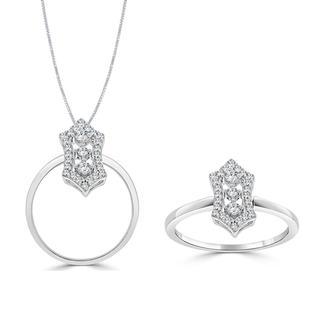 Diamond pendant with antique look