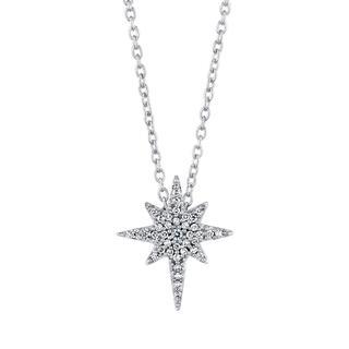 White gold North Star diamond pendant