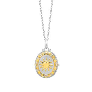 Sterling silver locket with sun design