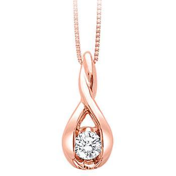 Sirena rose gold diamond pendant