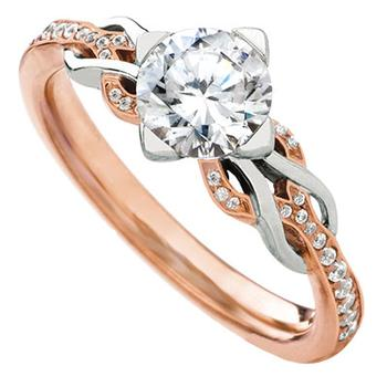 MaeVona Eriskay loop semi engagement ring