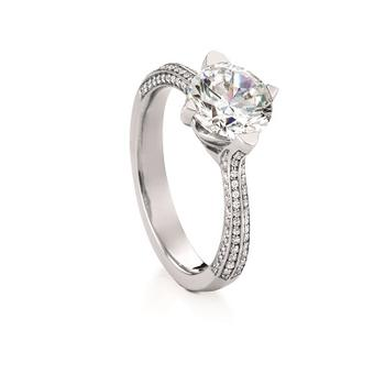 MaeVona Skye semi engagement ring