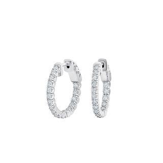 Lab grown diamond hoop earrings