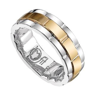 Men's two tone gold Mfit band