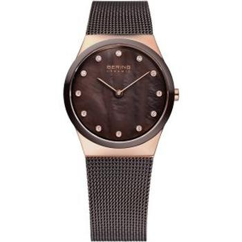 Bering brown quartz watch