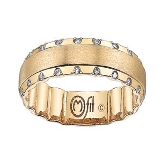 Men's yellow gold diamond Mfit band