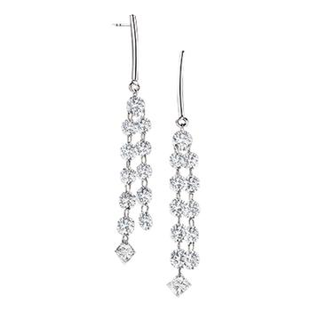 Aero Tassle diamond earrings