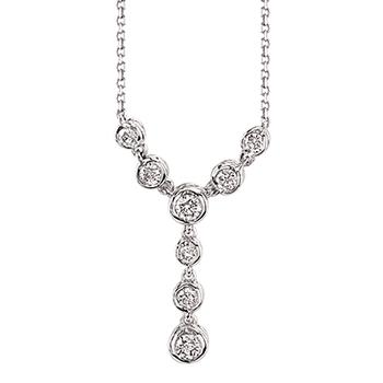 Sirena diamond Y shaped necklace