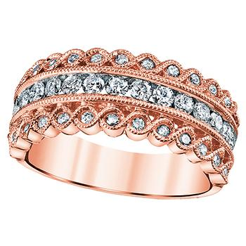 Rose gold diamond fashion band