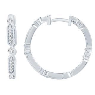 Diamond stackable hoops