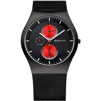 Bering multifunction watch with black mesh strap