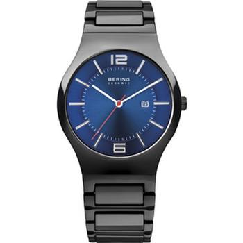 Bering ceramic watch with black strap