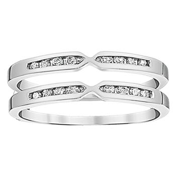 White gold diamond ring guard